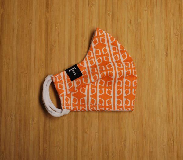 Couvre-visage tangerine