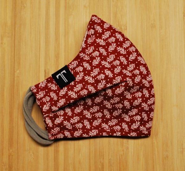 Couvre-visage Noël traditionnel rouge